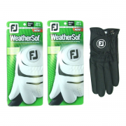 Footjoy WeatherSof Black Golf Glove (2 Glove Pack)