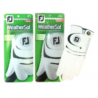 Footjoy WeatherSof White Golf Glove (2 Glove Pack)