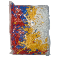 Longridge 100 Mixed Long Plastic Tees - 50mm
