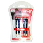 Masters Deluxe Wood Pencils with Eraser & Clip