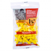 Masters Yellow Graduated Plastic Tees - 45mm