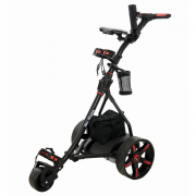 Ben Sayers Electric Golf Trolley - Lead Acid Battery - Black/Red