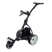 Ben Sayers Electric Golf Trolley - 18 Hole Lithium Battery - Black/White