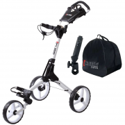 Skymax Cube 3 Wheel Trolley - White + 2 Free Accessories